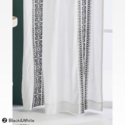 Anthropologie カーテン ★新作BOHOシック ★ Camilla Embroidered Curtain 2色★H213cm~(9)
