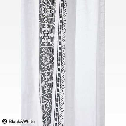 Anthropologie カーテン ★新作BOHOシック ★ Camilla Embroidered Curtain 2色★H213cm~(10)