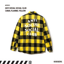 人気話題!ANTI SOCIAL SOCIAL CLUB CANAL FLANNEL YELLOW