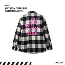 人気話題!ANTI SOCIAL SOCIAL CLUB HAN FLANNEL WHITE