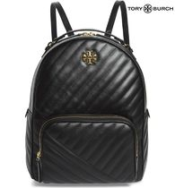 Tory Burch☆Kira Channel Quilted Lambskin Leather Backpack
