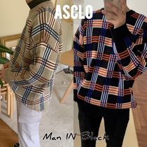 [送料込] ASCLO◆Shu Step Check Knit (2color)_韓国発