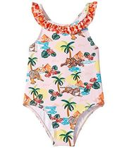 Kenzo Kids Printed Palm Tree One-Piece Swimsuit (Infant)