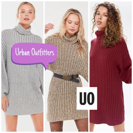 Urban Outfitters ワンピース Urban Outfitters タートルネックセーターワンピ