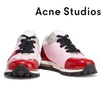 Acne Studios☆Joriko suede-trimmed PVC and shell sneakers