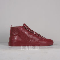 BALENCIAGA	◇ ARENA HIGH ROUGE スニーカー ガーネット色