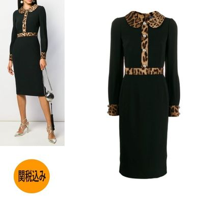Dolce & Gabbana ワンピース 【関送込】DOLCE & GABBANA  CREPE MIDI DRESS