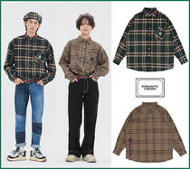 ROMANTIC CROWN★人気★Unisex Color★OLD CHECK WIDE SHIRT_2色