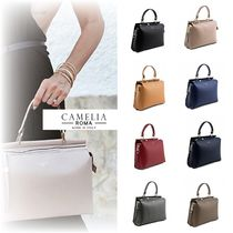 【関税・送料込/CameliaRoma】2way☆GRAINED LEATHER HANDBAG