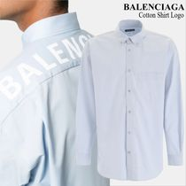 BALENCIAGA  Cotton Shirt Logo