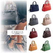 【関税・送料込/CameliaRoma】2way☆SAFFIANO LEATHER HANDBAG