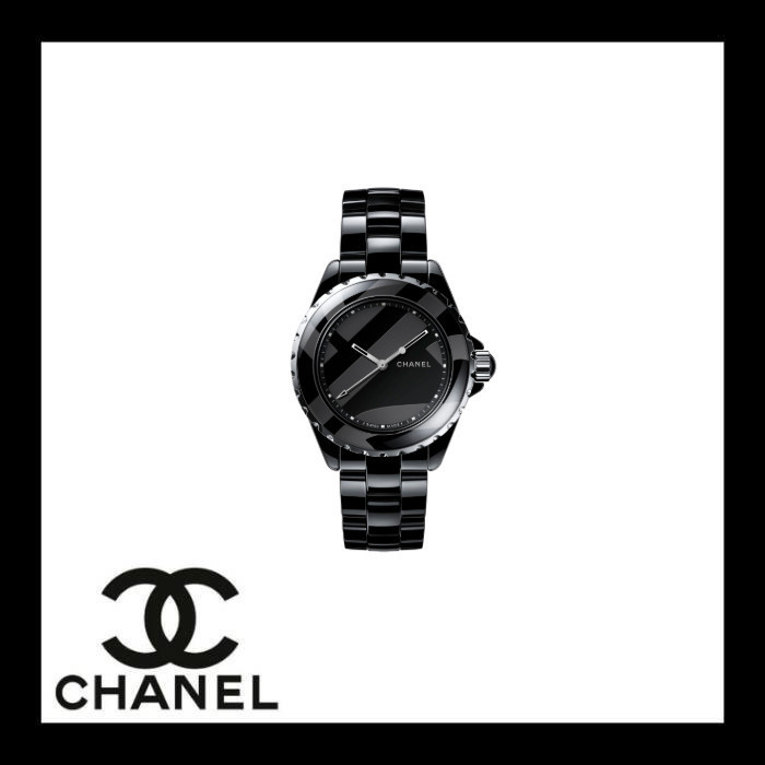 free shipping 9a4f3 24c81 CHANEL J12 Round Mechanical Watch Ceramic Stainless Analog Watches (H5581)