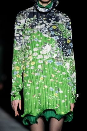 GIVENCHY ワンピース G548 LOOK15 FLORAL PRINT PLEATED DRESS(3)
