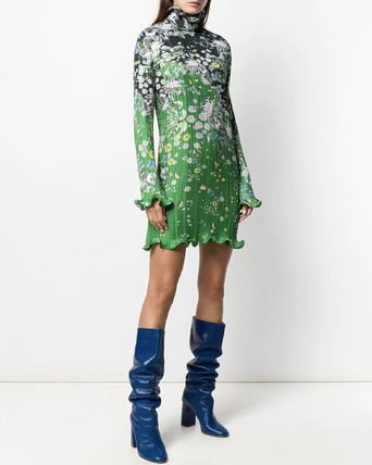 GIVENCHY ワンピース G548 LOOK15 FLORAL PRINT PLEATED DRESS(5)