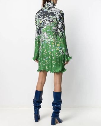 GIVENCHY ワンピース G548 LOOK15 FLORAL PRINT PLEATED DRESS(6)