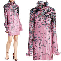 G550 FLORAL PRINT PLEATED DRESS