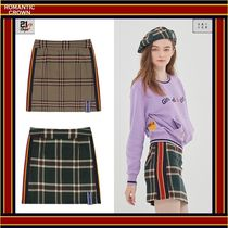 [ROMANTIC CROWN]  OLD CHECK SKIRT - [全2色] /人気商品