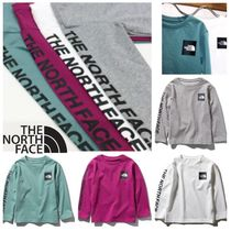 【THE NORTH FACE】国内発☆L/S SQUARE LOGO SLEEVE TEE キッズ