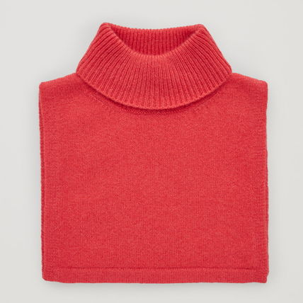 "COS 子供用帽子・手袋・ファッション小物 ""COS KIDS"" ROLL-NECK CASHMERE SCARF VIBRANTRED"