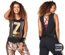◆9月新作◆All That Glitters Is Zumba Open Back Tank-Black