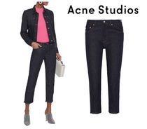 Acne Studios☆Row cropped mid-rise straight-leg jeans