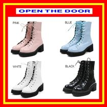 [OPEN THE DOOR] gloss leather walker boots (4 color) /追跡付