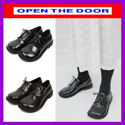 OPEN THE DOOR シューズ・サンダルその他 [OPEN THE DOOR]   rounded wide loafer (2 color) / 追跡付