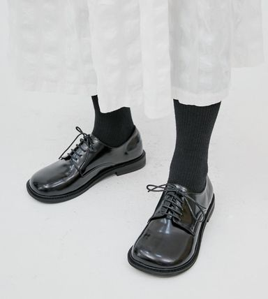 OPEN THE DOOR シューズ・サンダルその他 [OPEN THE DOOR]   rounded wide loafer (2 color) / 追跡付(2)
