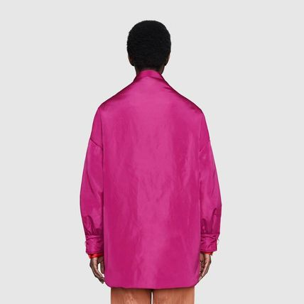 GUCCI アウターその他 【正規品保証】GUCCI★19/20秋冬★SILK BOMBER JACKET W/ SCARF(5)