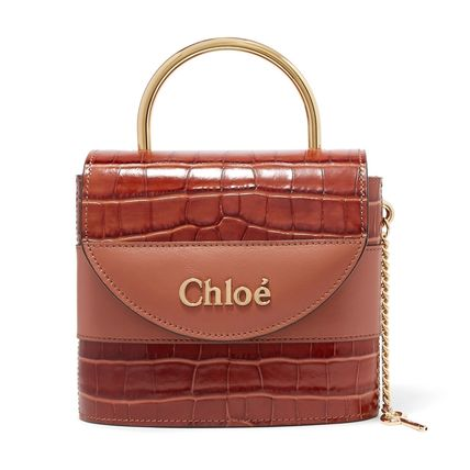Chloe トートバッグ ∞∞ CHLOE ∞∞ Aby Lock small croc-effect leather  トート☆