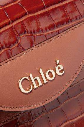 Chloe トートバッグ ∞∞ CHLOE ∞∞ Aby Lock small croc-effect leather  トート☆(5)