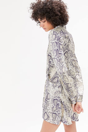 Urban Outfitters ワンピース ●Urban Outfitters●人気 Olympia スネーク柄 サテン ワンピ(3)