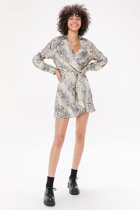 Urban Outfitters ワンピース ●Urban Outfitters●人気 Olympia スネーク柄 サテン ワンピ(4)