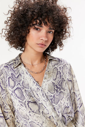 Urban Outfitters ワンピース ●Urban Outfitters●人気 Olympia スネーク柄 サテン ワンピ(6)