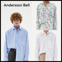 [ANDERSSON BELL] EDAN HIDDEN BUTTON SLEEVE OVERSIZED SHIRT