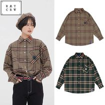 ROMANTIC CROWN★チェックシャツ OLD CHECK WIDE SHIRT 2カラー