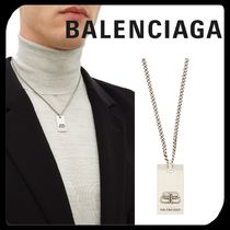 ●関税送料込●BALENCIAGA メンズ BB pendant necklace silver