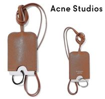 関税・送料込Acne Studios☆Cinn G textured-leather luggage tag