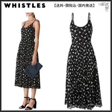 WHISTLES ワンピース 【海外限定】WHISTLESワンピース☆Snow Blossom Pleated Dress