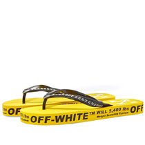 // OFF-WHITE	// FLIP FLOP YELLOW アロー 草履 イエロー