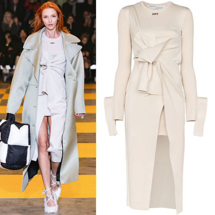 Off-White ワンピース OW139 LOOK1 STRETCH JERSEY WRAP DRESS
