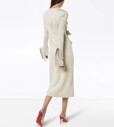 Off-White ワンピース OW139 LOOK1 STRETCH JERSEY WRAP DRESS(4)