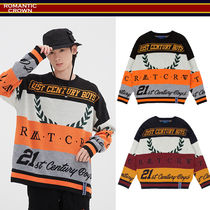 【ROMANTIC CROWN】RACING COLOR BLOCK KNIT★19AW★日本未入荷