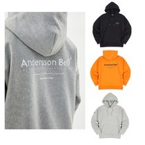 ★ANDERSSON BELL★NISEX FULL NAME LOGO EMBROIDERY HOODIE