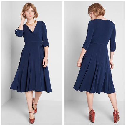 modcloth ワンピース 国内送料無料♪Say Yes to Timeless Dress*ミディアムワンピース