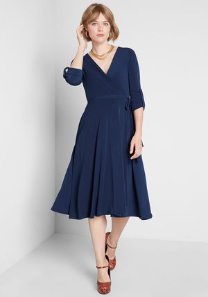 modcloth ワンピース 国内送料無料♪Say Yes to Timeless Dress*ミディアムワンピース(2)