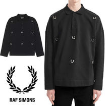 【FRED PERRY】RAF SIMONS コラボ★ローレル 長袖 ポロシャツ