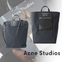 Acne Studios*19AW Baker Out トートバッグ ロゴ ブラック 2WAY