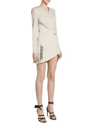 Off-White ワンピース OW153 GATHERED JERSEY DRESS(2)