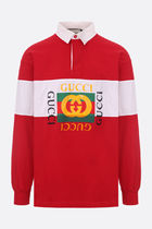 GUCCI▽関込JERSEY ポロ シャツ ヴィンテージ プリント